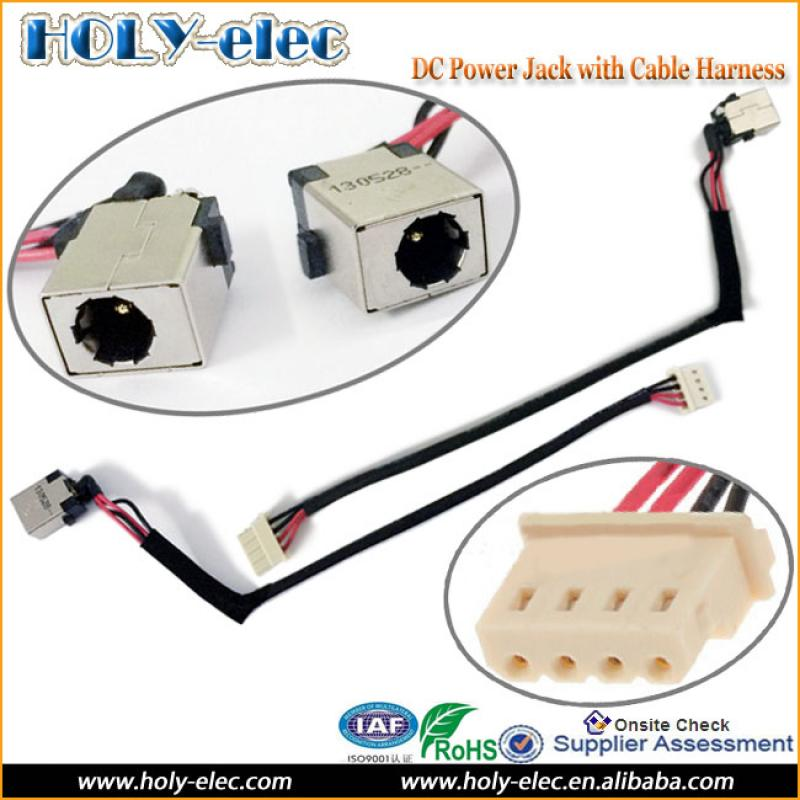 Laptop DC Power Port Socket Jack Connector and Cable Wire New DC ...